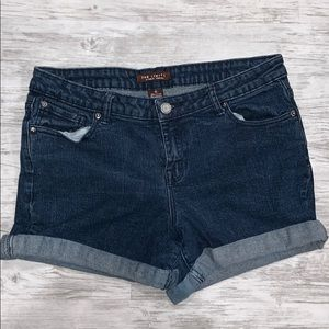 The limited blue jean shorts